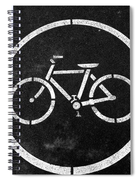Vancouver Bike Lane- Art By Linda Woods Spiral Notebook