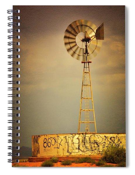 Vane In The Wind Spiral Notebook
