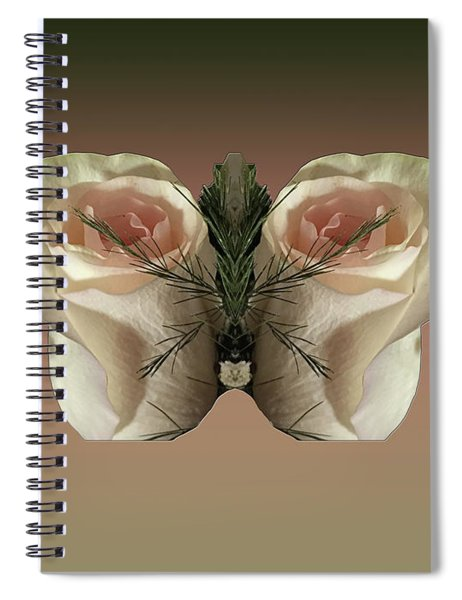 Vanilla Butterfly Rose Spiral Notebook
