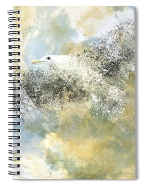 Vanishing Seagull Spiral Notebook