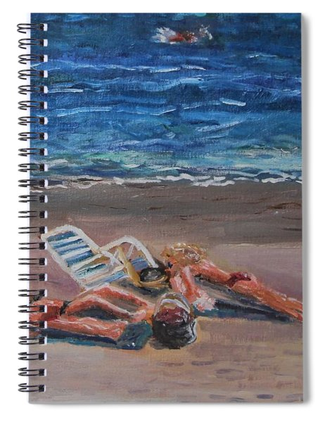 Variations On Tanning II Spiral Notebook