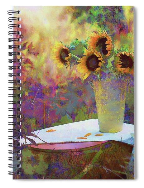 Vase De Fleurs 2017 Spiral Notebook