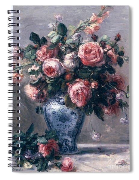 Vase Of Roses Spiral Notebook