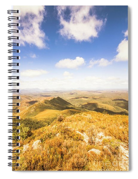 Vast Expanse Of Wonderful Countryside Spiral Notebook
