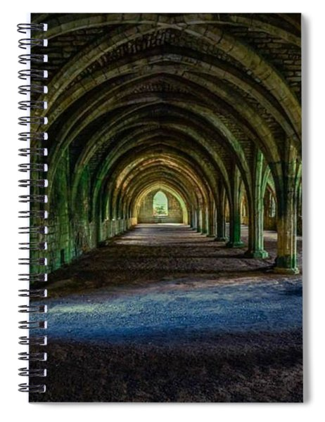 Vaulted, Fountains Abbey, Yorkshire, United Kingdom Spiral Notebook