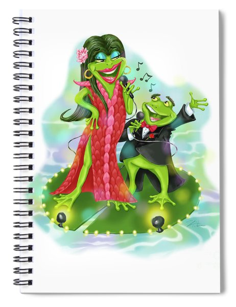 Vegas Frogs Lounge Act Spiral Notebook