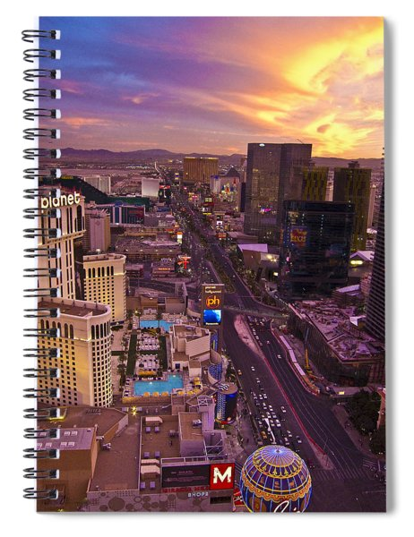 Vegas Sunset Spiral Notebook