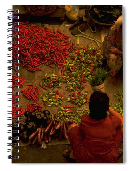 Vegetable Market In Malaysia Spiral Notebook