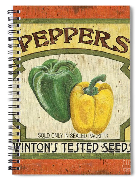 Veggie Seed Pack 2 Spiral Notebook by Debbie DeWitt