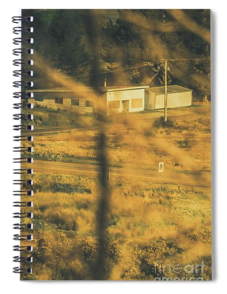 Vegitation View Of Rural Farm Homestead  Spiral Notebook