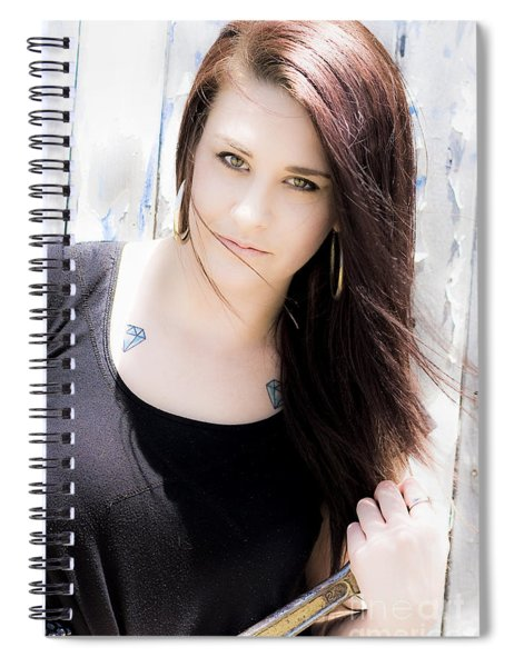 Vehicle Service Repair Woman Spiral Notebook