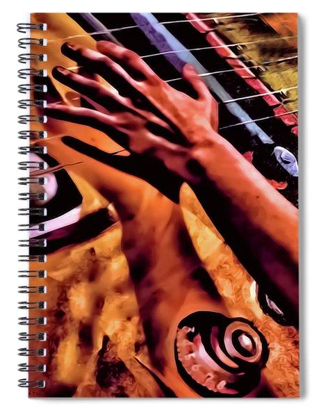 Velvet Strum Electric Spiral Notebook