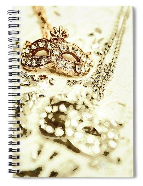 Venetian Crystal Style Spiral Notebook