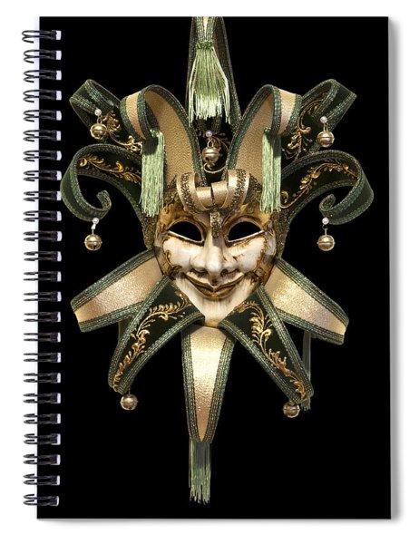Venetian Mask Spiral Notebook