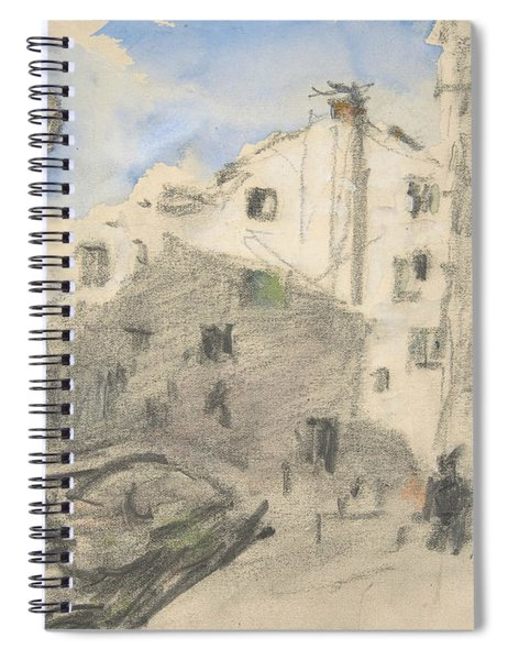 Venetian Street Scene Spiral Notebook