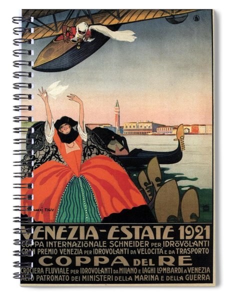 Venezia Estate 1921 - Coppa Del Re - Venice, Italy - Retro Travel Poster - Vintage Poster Spiral Notebook