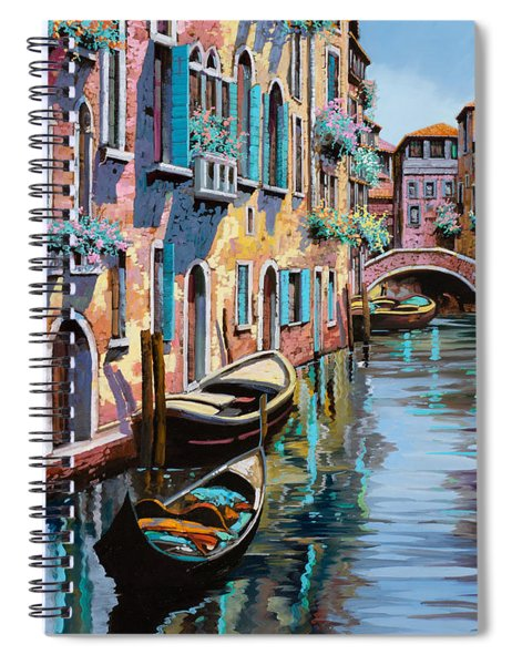Venezia In Rosa Spiral Notebook by Guido Borelli
