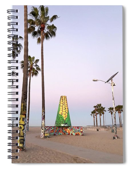 Venice Beach Corn Cob Art Spiral Notebook