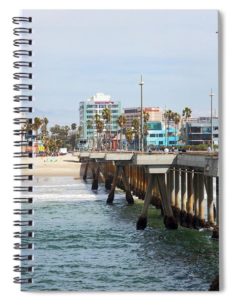 Venice Beach From The Pier Spiral Notebook