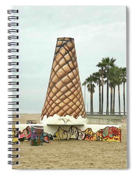 Venice Beach Ice Cream Cone Art Spiral Notebook