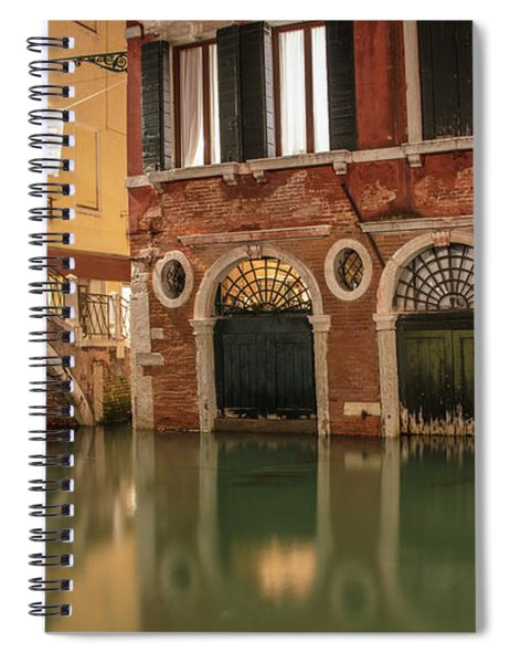 Venice Canal In Evening  Spiral Notebook