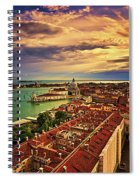 From The Bell Tower In Venice, Italy Spiral Notebook