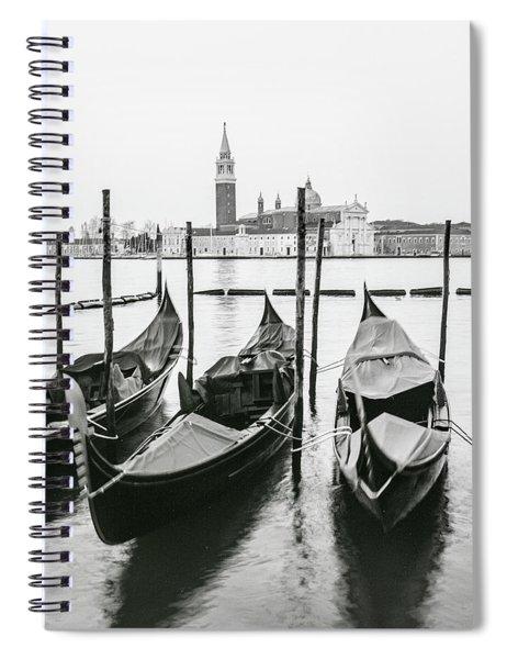 Venice Gondolas On Film  Spiral Notebook