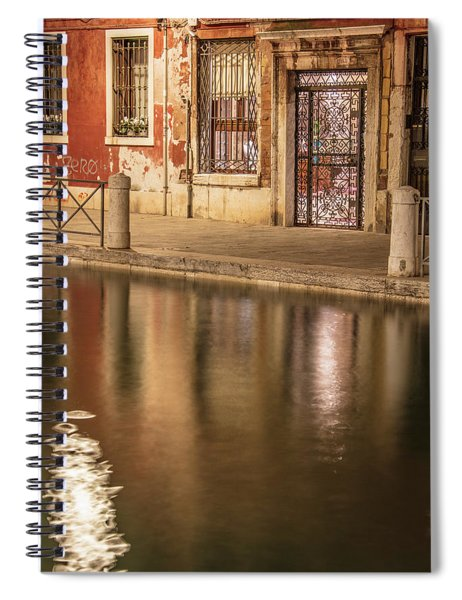 Venice Red Canal  Spiral Notebook