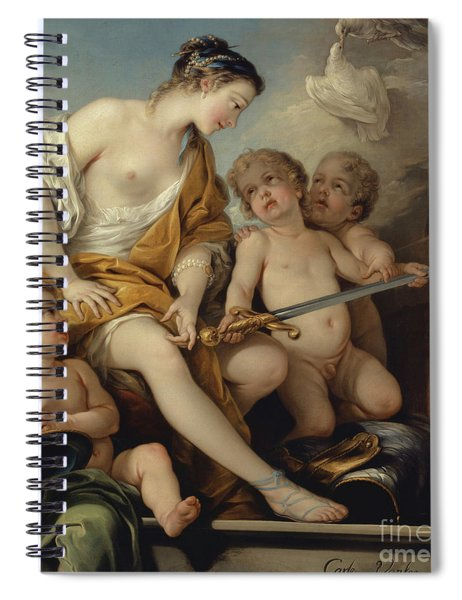 Venus And Cupids With The Arms Of Mars Spiral Notebook