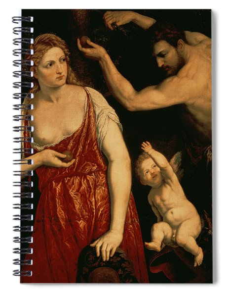 Venus And Mars Spiral Notebook