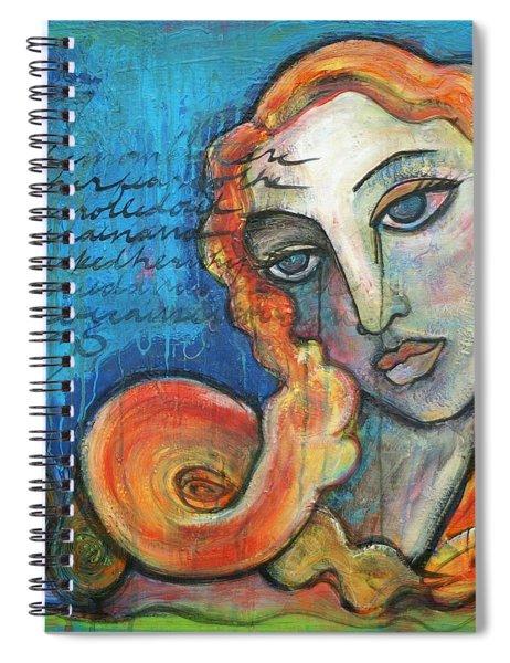 Venus Lets Go Spiral Notebook
