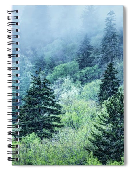 Verdant Forest In The Great Smoky Mountains Spiral Notebook