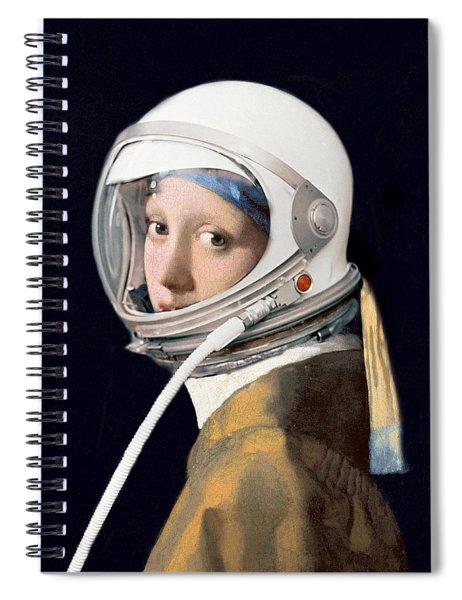 Vermeer - Girl In A Space Helmet Spiral Notebook