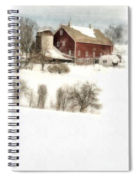 Vermont Jenne Farm Winter  Spiral Notebook