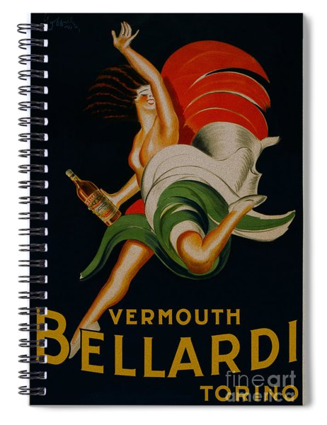Vermouth Bellardi Torino Vintage Poster Spiral Notebook