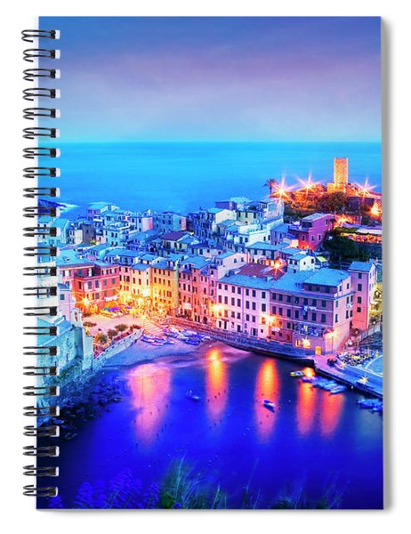 Vernazza At Dusk Spiral Notebook