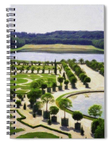 Versailles Digital Paint Spiral Notebook