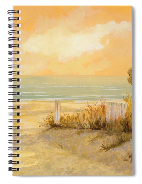 Verso La Spiaggia Spiral Notebook by Guido Borelli