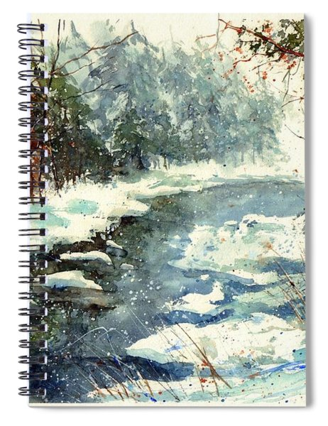 Very Cold Winter Watercolor Spiral Notebook