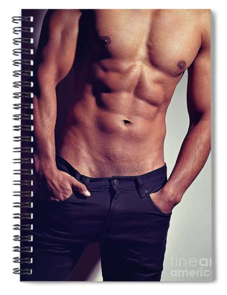 Very Sexy Man With Great Body Spiral Notebook