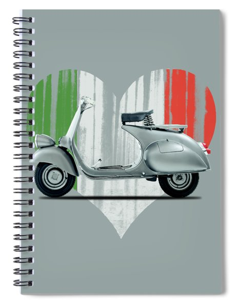 Vespa 125 1951 Spiral Notebook