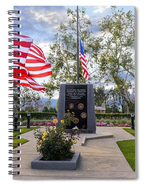 Veterans Monument Camarillo California Usa Spiral Notebook