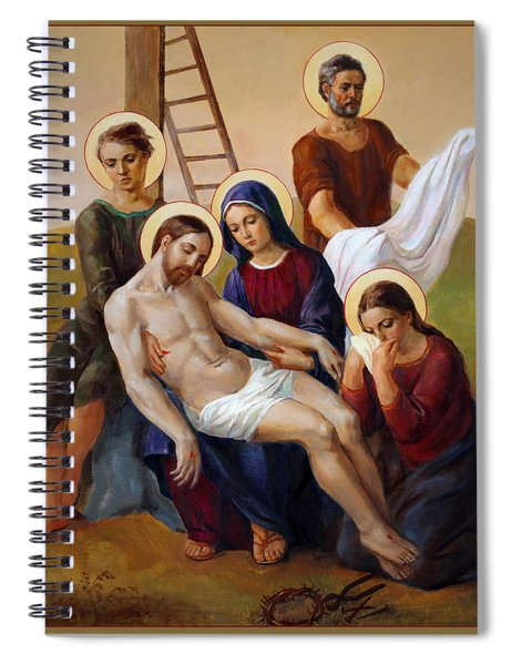 Via Dolorosa - Way Of The Cross - 13 Spiral Notebook