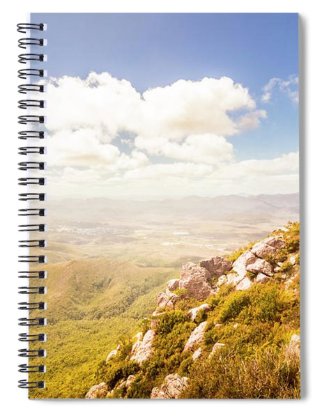 Vibrant Hills And Valleys Spiral Notebook