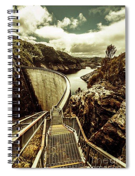 Vibrant River Dam Spiral Notebook