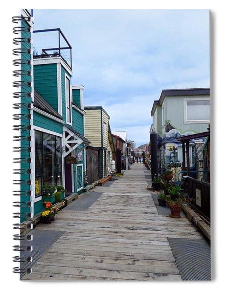 Victoria British Columbia Fisherman's Wharf Spiral Notebook