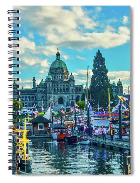 Victoria Harbor Boat Festival Spiral Notebook