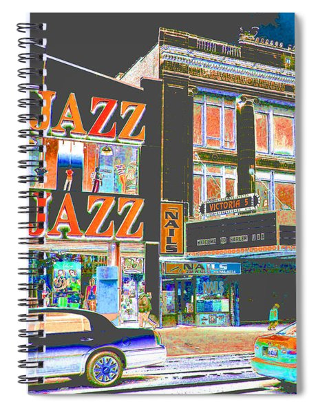 Victoria Theater 125th St Nyc Spiral Notebook