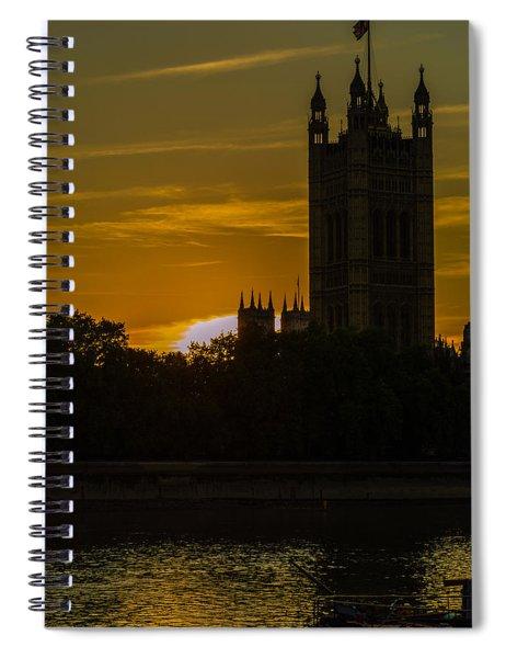Victoria Tower In London Golden Hour Spiral Notebook