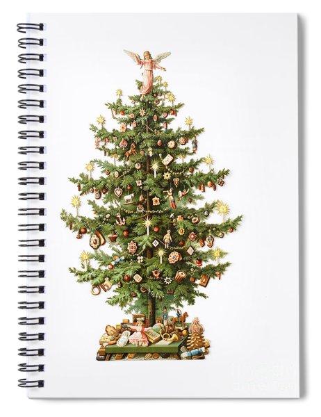 Victorian Christmas Card Spiral Notebook